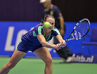 December 18, 2014, Rotterdam, Topsport Centrum, Lotto NK Tennis, Ladie's singles quarter final, Bibianne Weijers (NED)<br /> Photo: Tennisimages/Henk Koster