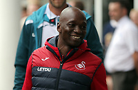 Swansea assistant coach Claude Makelele arrives prior to the game during the Premier League match between Southampton and Swansea City at the St Mary's Stadium, Southampton, England, UK. Saturday 12 August 2017
