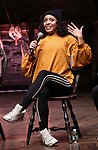 "Sasha Hollinger during The Rockefeller Foundation and The Gilder Lehrman Institute of American History sponsored High School student #eduHam matinee performance of ""Hamilton"" Q & A at the Richard Rodgers Theatre on November 28, 2018 in New York City."