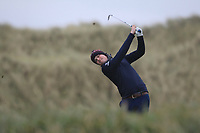 Paul Conroy (Enniscorthy) on the 13th tee during Round 2 of the Ulster Boys Championship at Portrush Golf Club, Portrush, Co. Antrim on the Valley course on Wednesday 31st Oct 2018.<br /> Picture:  Thos Caffrey / www.golffile.ie<br /> <br /> All photo usage must carry mandatory copyright credit (&copy; Golffile | Thos Caffrey)