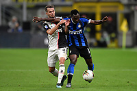 Miralem Pjanic of Juventus , Kwadwo Asamoah of FC Internazionale <br /> Milano 6-10-2019 Stadio Giuseppe Meazza <br /> Football Serie A 2019/2020 <br /> FC Internazionale - Juventus FC <br /> Photo Andrea Staccioli / Insidefoto