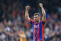James McArthur of Crystal Palace celebrates during Crystal Palace vs Brighton & Hove Albion, Premier League Football at Selhurst Park on 14th April 2018