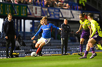 Ross McCrorie of Portsmouth plays a pass under pressure during Portsmouth vs Exeter City, Leasing.com Trophy Football at Fratton Park on 18th February 2020