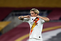 Roma s Nicolo Zaniolo takes off his jersey at the end of the Italian Serie A football match between Roma and Parma at Rome's Olympic stadium, July 8, 2020.<br /> UPDATE IMAGES PRESS/Isabella Bonotto