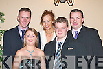 Seeing in the New Year at the Killarney Heights Hotel Killarney were l-r Martin Griffin Castlemaine, Angela Curran Listry, Patsy Griffin Castlemaine, Antony Curran Listry and Paul Teahan Dooks.