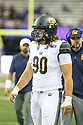 SEATTLE, WA - September 07: Cal's Brett Johnson during the college football game between the Washington Huskies and the California Bears on September 07, 2019 at Husky Stadium in Seattle, WA. Jesse Beals / www.Olympicphotogroup.com