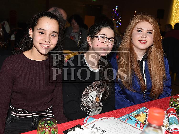 Maria Murillo, Eleanor Holmes and Muirinn Boyd at the Trio Royale show in St. Kevins GAA club Philipstown. Photo:Colin Bell/pressphotos.ie