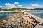 Stone footbridge in Southwest Harbor, Maine, USA