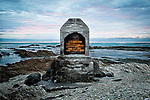 Stone work and memories are all that is left of a building that once stood on the edge of land and sea at Kaikoura..This New Zealand Fine Art Landscape Print, available in four sizes on either archival Hahnemuhle Fine Art Pearl paper or canvas, is printed using Epson K3 Ultrachrome inks and comes with a lifetime guarantee against fading..All prints are signed and numbered on the lower margin and come with my 100% money back guarantee on the purchase price, should you not be  completely happy with the quality of the delivered print or canvas.