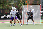 Orange, CA 05/16/15 - Sackett Keesen (Grand Canyon #8) and Red Miller (Colorado #19) in action during the 2015 MCLA Division I Championship game between Colorado and Grand Canyon, at Chapman University in Orange, California.