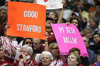 SAN ANTONIO, TX - APRIL 4: Fans during Stanford's 73-66 win over Oklahoma in the Final Four semi-finals at the Alamo Dome on April 4, 2010 in San Antonio, Texas.