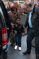 Cristiano Ronaldo Jr and Maria Dolores dos Santos attend Jorge Mendes´s book presentation in Madrid, Spain. January 22, 2015. (ALTERPHOTOS/Victor Blanco) /NortePhoto<br />