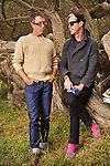 John Wicks and Michael Fitzpatrick of Fitz and the Tantrums backstage at Outside Lands Festival at Golden Gate Park in San Francisco, California.