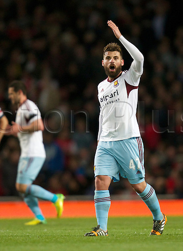 15.04.2014.  London, England. Antonio Nocerino of West Ham United during the Barclays Premier League match between Arsenal and West Ham from the Emirates Stadium.