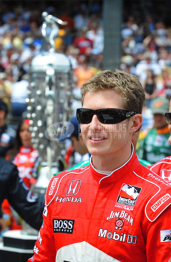 May 25, 2008; Indianapolis, IN, USA; IRL driver Ryan Briscoe during the 92nd running of the Indianapolis 500 at the Indianapolis Motor Speedway. Mandatory Credit: Mark J. Rebilas-