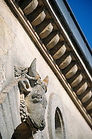 Europe/France/Aquitaine/33/Gironde/Saint-Estèphe: château Cos d'Estournel (AOC Saint-Estèphe) - Détail de l'étable aux boeufs [Non destiné à un usage publicitaire - Not intended for an advertising use]