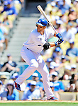 24 July 2011: Los Angeles Dodgers infielder James Loney in action against the Washington Nationals at Dodger Stadium in Los Angeles, California. The Dodgers defeated the Nationals 3-1 to take the rubber match of their three game series. Mandatory Credit: Ed Wolfstein Photo