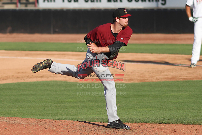 Quad Cities River Bandits pitcher Michael Freeman (35) delivers a warmup pitch during a Midwest League game against the Wisconsin Timber Rattlers on July 17th, 2015 at Fox Cities Stadium in Appleton, Wisconsin. Quad Cities defeated Wisconsin 4-2. (Brad Krause/Four Seam Images)