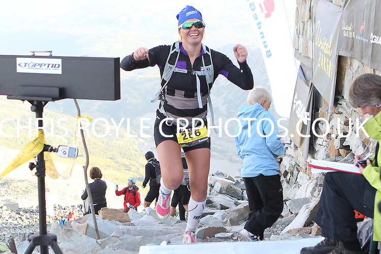 Race number 266 - Sarah Molstad Knudsen  - Norseman Xtreme Tri 2012 - Norway - photo by chris royle/ boxingheaven@gmail.com