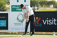Tom Lewis (ENG) during Round 2 of the Portugal Masters, Dom Pedro Victoria Golf Course, Vilamoura, Vilamoura, Portugal, 25/10/2019<br /> Picture Andy Crook / Golffile.ie<br /> <br /> All photo usage must carry mandatory copyright credit (© Golffile | Andy Crook)