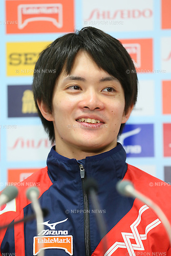 Yusuke Tanaka, <br /> MAY 17, 2015 - Artistic Gymnastics : <br /> The 54th NHK Cup <br /> Individual All-Around <br /> Press Conference <br /> at Yoyogi 1st Gymnasium, Tokyo, Japan. <br /> (Photo by YUTAKA/AFLO SPORT)