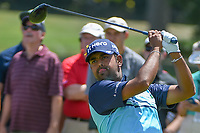 Anirban Lahiri (IND) watches his tee shot on 8 during 3rd round of the World Golf Championships - Bridgestone Invitational, at the Firestone Country Club, Akron, Ohio. 8/4/2018.<br /> Picture: Golffile | Ken Murray<br /> <br /> <br /> All photo usage must carry mandatory copyright credit (© Golffile | Ken Murray)