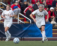 Boston College forward Stephanie Wirth (22) brings the ball forward.  Boston College defeated Marist College, 6-1, in NCAA tournament play at Newton Campus Field, November 13, 2011.