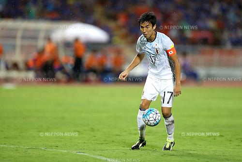 Makoto Hasebe (JPN),<br /> SEPTEMBER 6, 2016 - Football / Soccer :<br /> FIFA World Cup Russia 2018 Asian Qualifiers Final Round Group B match between Thailand 0-2 Japan at Rajamangala National Stadium in Bangkok, Japan. (Photo by Kenzaburo Matsuoka/AFLO)