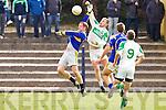Ballydonoghue's Dean Dowling and Austin Quilter  St Senan's County league Division 5 - St Senan's 0-16 vs 2-10 Ballydonoghue at Mountcoal on Sunday