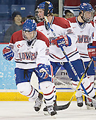 Rene Gauthier, Kim Brandvold, Lowell ? - The University of Massachusetts-Lowell River Hawks defeated the Boston College Eagles 6-3 on Saturday, February 25, 2006, at the Paul E. Tsongas Arena in Lowell, MA.