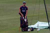 Sir Alastair Cook of Essex walks out ready to bat in the nets prior to Kent CCC vs Essex CCC, Friendly Match Cricket at The Spitfire Ground on 27th July 2020
