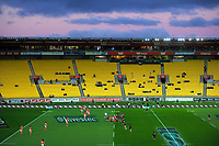 A general view of the 2017 International Women's Rugby Series rugby match between the NZ Black Ferns and Canada at Westpac Stadium in Wellington, New Zealand on Friday, 9 June 2017. Photo: Dave Lintott / lintottphoto.co.nz