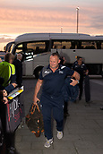 29th September 2017, AJ Bell Stadium, Salford, England; Aviva Premiership Rugby, Sale Sharks versus Gloucester; The sun sets as Sale Sharks' Director of Rugby Steve Diamond walks into the stadium