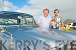 VINTAGE CARS: Tony Hehir and Dylan and Eamonn Casey enjoying the Vintage cars at the Ballyheigue Summer Festival on Sunday.