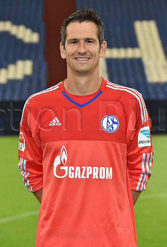 17.07.2015, Gelsenkirchen, Germany. Bundesliga season 2015-16 official squad portrait.  Goalkeeper  Michael Gspurning (Schalke 04)
