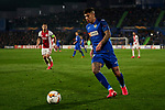 Mathias Olivera of Getafe FC during UEFA Europa League match between Getafe CF and AFC Ajax at Coliseum Alfonso Perez in Getafe, Spain. February 20, 2020. (ALTERPHOTOS/A. Perez Meca)