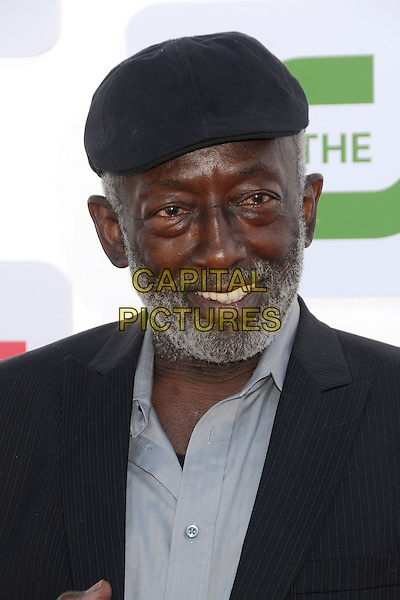 Garrett Morris.CBS, CW, Showtime 2012 Summer TCA Party held at The Beverly Hilton Hotel, Beverly Hills, California, USA..July 29th, 2012.headshot portrait black suit grey gray shirt hat beard facial hair   .CAP/ADM/BP.©Byron Purvis/AdMedia/Capital Pictures.