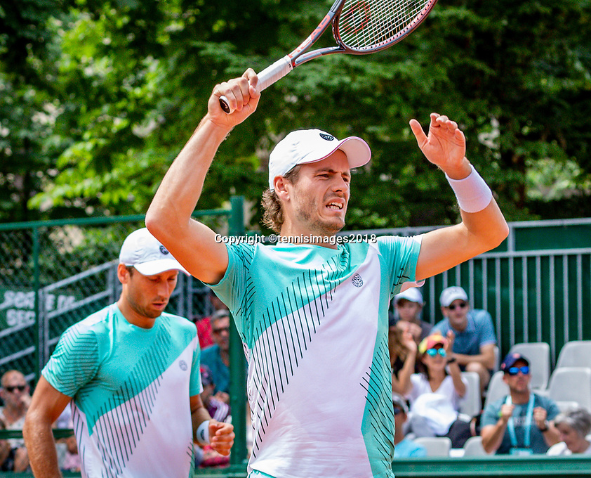 Paris, France, 31 May, 2018, Tennis, French Open, Roland Garros, Wesley Koolhof (NED) (R) and Artem Sitak (NZL)<br /> Photo: Henk Koster/tennisimages.com