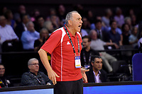 Syria&rsquo;s Coach Veselin Matic in action during the FIBA World Cup Basketball Qualifier - NZ Tall Blacks v Syria at TSB Bank Arena, Wellington, New Zealand on Sunday 2 2018. <br /> Photo by Masanori Udagawa. <br /> www.photowellington.photoshelter.com