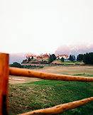 ARGENTINA, Patagonia, Bariloche, view of the Llao Llao Lodge Hotel and the grounds.