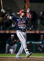 Jesse Castillo de los mayos, durante juego de beisbol de la Liga Mexicana del Pacifico temporada 2017 2018. Quinto juego de la serie de playoffs entre Mayos de Navojoa vs Naranjeros. 6Enero2018. (Foto: Luis Gutierrez /NortePhoto.com)