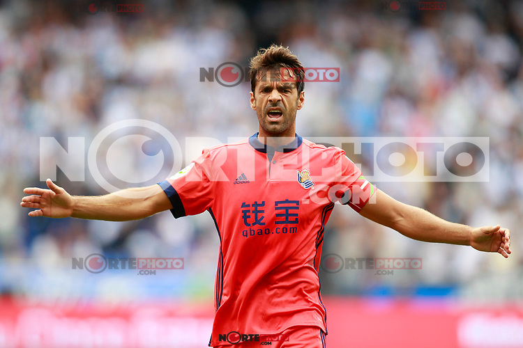 Real Sociedad's Xabi Prieto during La Liga match. September 10,2017. (ALTERPHOTOS/Acero) /NortePhoto.com