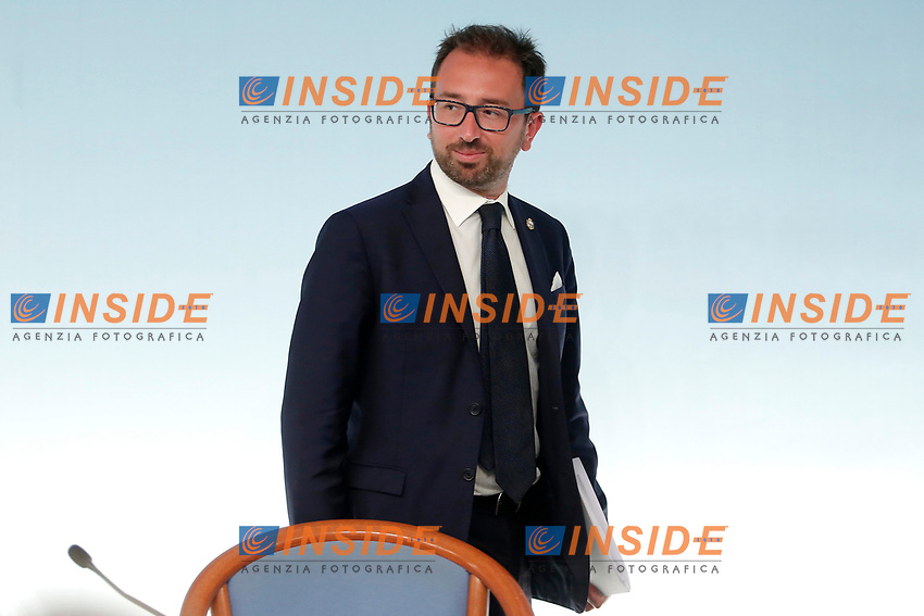 Minister of Justice Alfonso Bonafede <br /> Roma 24/07/2018. Conferenza stampa al termine del Consiglio dei Ministri.<br /> Rome 24th of July. Press conference at the end of Ministers Cabinet .<br /> Foto Samantha Zucchi Insidefoto