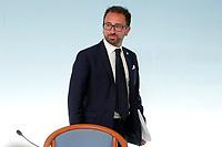 Minister of Justice Alfonso Bonafede <br /> Roma 24/07/2018. Conferenza stampa al termine del Consiglio dei Ministri.<br /> Rome 24th of July. Press conference at the end of Ministers Cabinet .<br /> Foto Samantha Zucchi Insidefoto