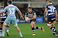 Ollie Devoto of Bath Rugby goes on the attack. Aviva Premiership match, between Bath Rugby and Northampton Saints on December 5, 2015 at the Recreation Ground in Bath, England. Photo by: Patrick Khachfe / Onside Images