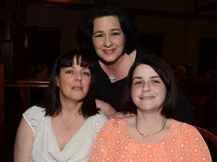 Lorna Finnegan, Annmarie O'Connell and Maura McDonagh pictured at Roisin Stokes's homecoming party at the Hunterstown Inn. Photo:Colin Bell/pressphotos.ie