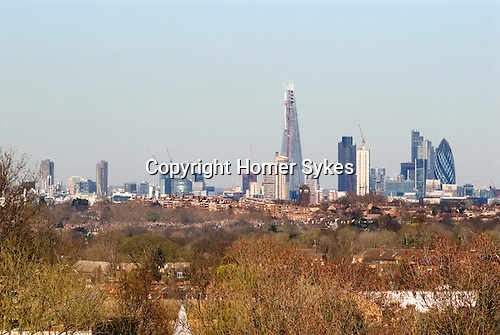 London Skyline. 2012 The Shard building designed by  international architect, Renzo Piano,