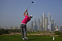 Maximilian Kieffer (GER) on the 8th tee during Round 2 of the Omega Dubai Desert Classic, Emirates Golf Club, Dubai,  United Arab Emirates. 25/01/2019<br /> Picture: Golffile | Thos Caffrey<br /> <br /> <br /> All photo usage must carry mandatory copyright credit (© Golffile | Thos Caffrey)