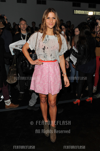 Amanda Byram at the Zoe Jordan catwalk show as part of London Fashion Week AW13, Somerset House, London. 15/02/2013 Picture by: Steve Vas / Featureflash