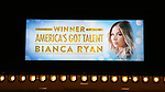 "Theatre Marquee unveiling for  ""Home For The Holidays"" starring Bianca Ryan, winner: ""America's Got Talent"" Season 1, at August Wilson Theatre Theatre on November 3, 2017 in New York City."